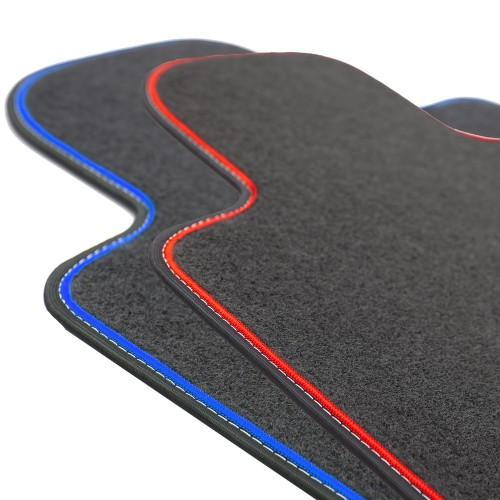 BMW 5 F10 / F11 - dywaniki welurowe MOTOLUX z taśmą
