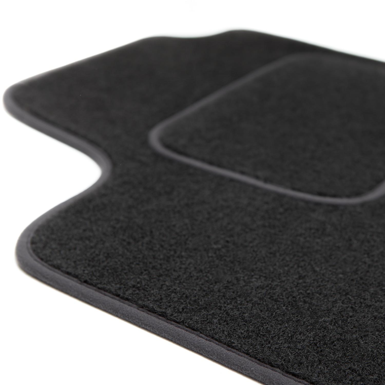 Fußmatten Automatten Velours für Peugeot  405 1987-1997 3tlg schwarz ohne Bef.