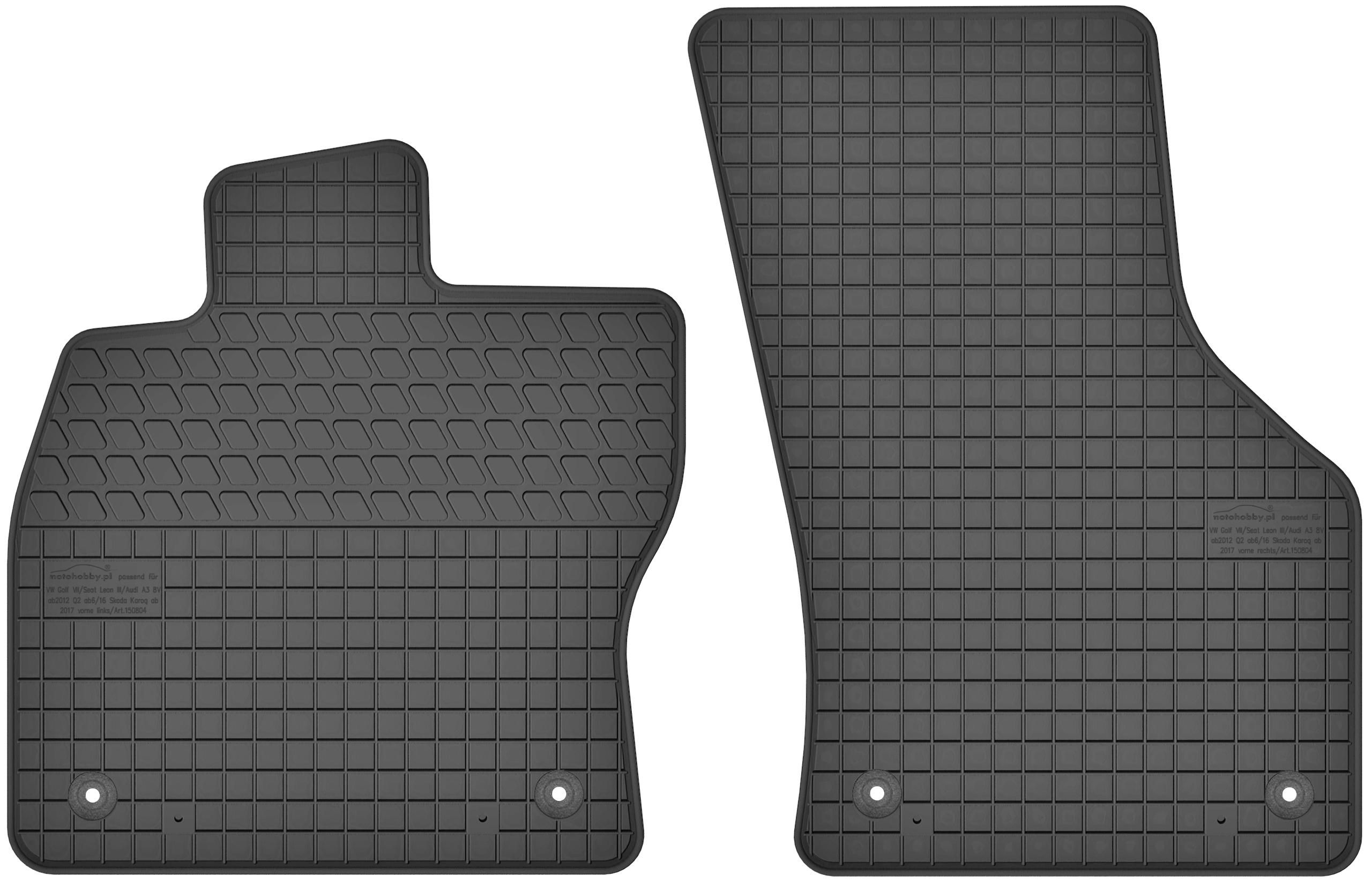 Gummifußmatten für Audi Q3 ab 2019 Passgenau ideal Angepasst