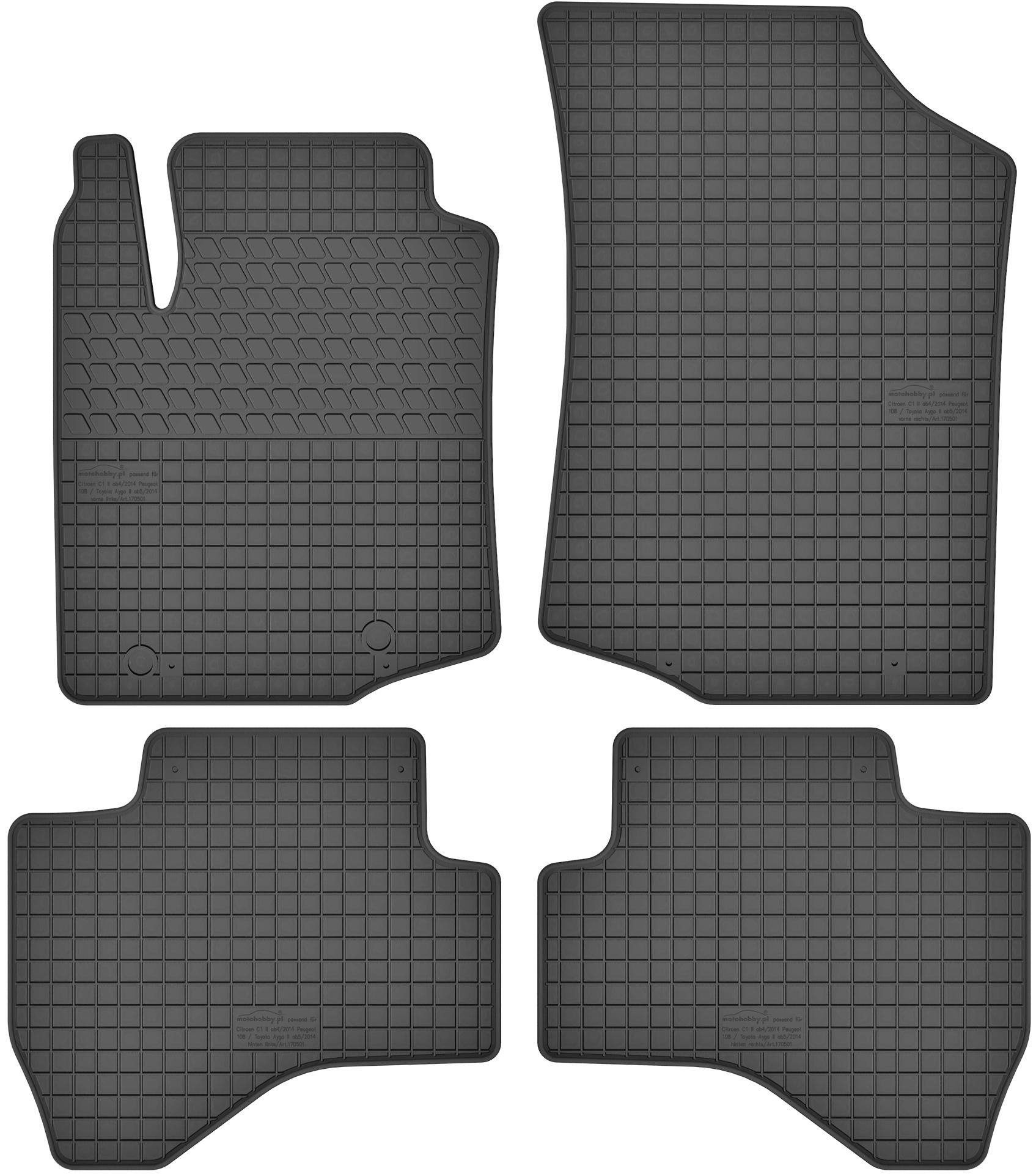Gummi Fußmatten Ford Ranger Mazda BT-50 Gummimatten Gummifußmatten Set Matten