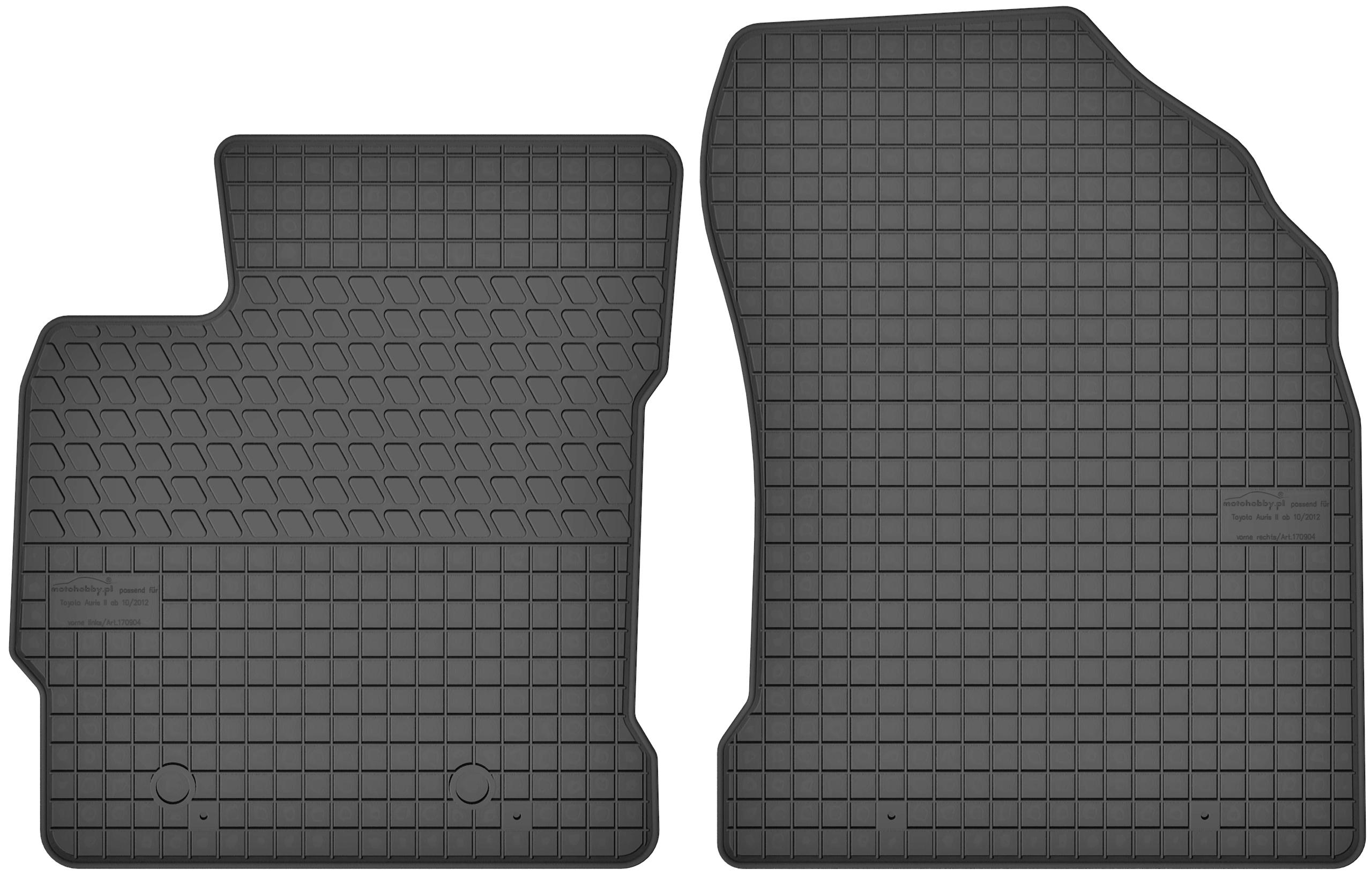 Gummimatten Gummi Fußmatten Matten Set Gummifußmatten Toyota Auris 2 E180 2012