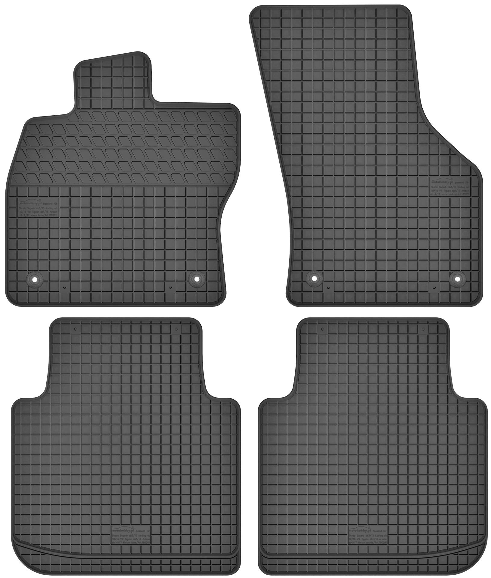 Kofferraumwanne Kofferraummatte passend für Skoda Superb 2 II 4 Türen 2008-2015