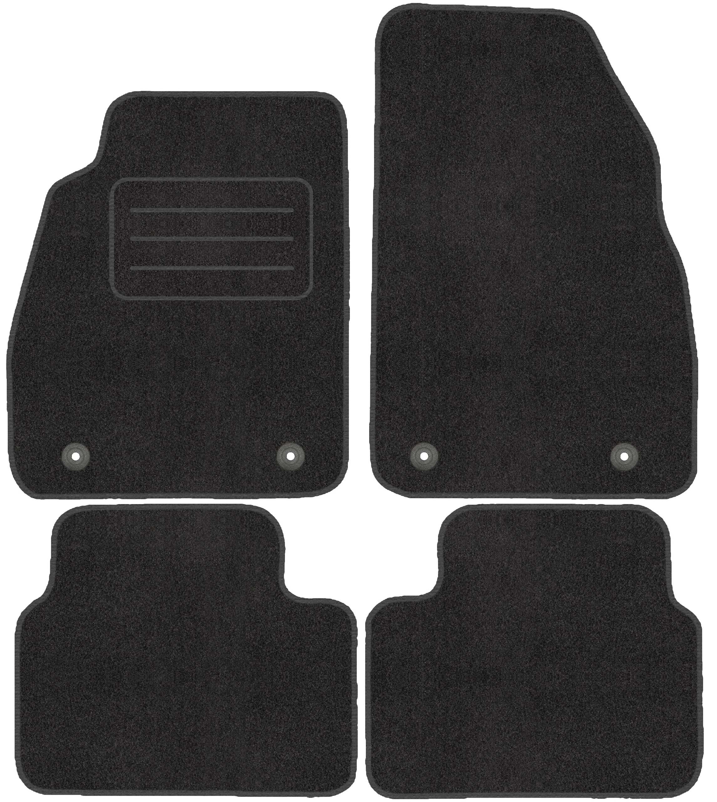 Velour Fußmatten Satz für Saab 9-5 II NG Passgenau - Premium Qualität 10-12